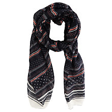 Buy Oasis Stripe and Spot Scarf, Multi Online at johnlewis.com