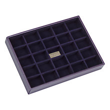 Buy Stackers Jewellery Box, 25 Sections, Purple Online at johnlewis.com