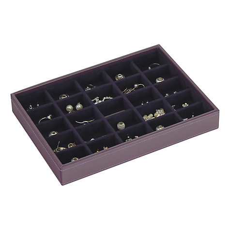 Buy stackers jewellery 25 sections tray purple john lewis for Stackers jewelry box canada