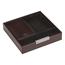 Buy Stackers Valet Tray, Brown Online at johnlewis.com