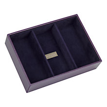 Buy Stackers Jewellery Box, 3 Sections, Purple Online at johnlewis.com