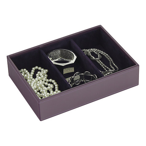 Buy stackers jewellery box 3 sections purple john lewis for Stackers jewelry box canada