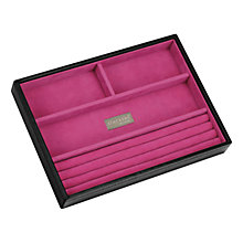Buy Stackers Jewellery Box, 4 Sections, Black/ Fuschia Online at johnlewis.com