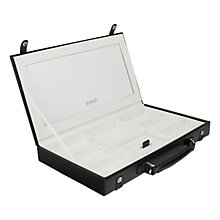Buy Dulwich Pretty Leather Jewellery Case, Black Online at johnlewis.com