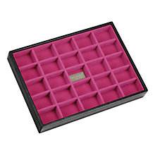 Buy Stackers Jewellery Box, 25 Sections, Black/ Fuschia Online at johnlewis.com
