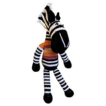 Buy Dassie GoGo Olive Knitted Zebra Doll Online at johnlewis.com