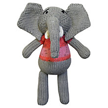 Buy Dassie GoGo Olive Knitted Elephant Doll Online at johnlewis.com