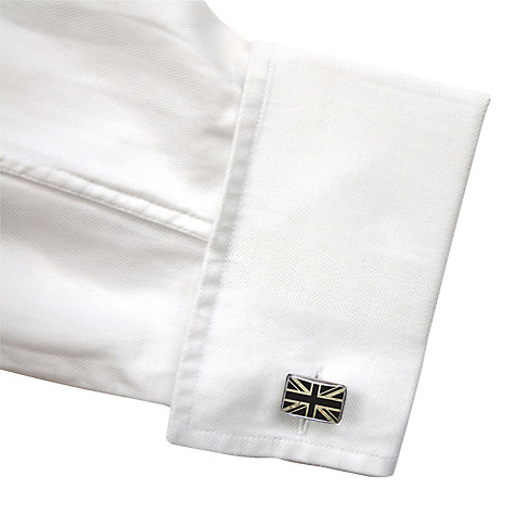 Buy TYLER & TYLER Union Jack Cufflinks, White Online at johnlewis.com