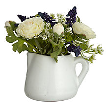 Buy John Lewis Croft Collection Ranunculas Mixed Decorative Jug Online at johnlewis.com