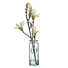 Buy John Lewis Croft Collection Artificial Magnolia Vase, White Online at johnlewis.com