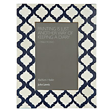 "Buy John Lewis Savoy Photo Frame, White & Navy 4 x 6"" (10 x 15cm) Online at johnlewis.com"