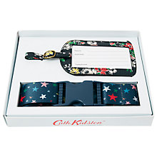 Buy Cath Kidston Clifton Rose Blue Luggage Strap and Tag Set Online at johnlewis.com