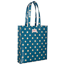Buy Cath Kidston Button Spot Bookbag, Blue Online at johnlewis.com