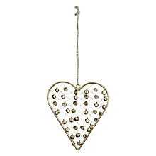 Buy Decorative Beaded Hanging Heart Online at johnlewis.com