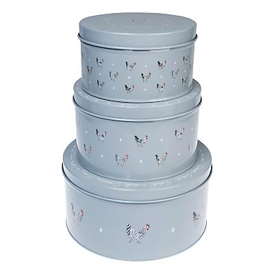 Sophie Allport Chicken Enamel Cake Tins, Set of 3