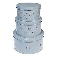 Buy Sophie Allport Chicken Enamel Cake Tins, Set of 3 Online at johnlewis.com