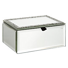 Buy John Lewis Diamante Mirror Trinket Box Online at johnlewis.com
