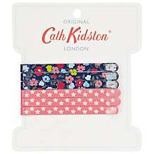 Buy Cath Kidston Clocks Print Bookbag, Green Online at johnlewis.com