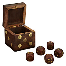 Buy John Lewis Wooden Dice Box Online at johnlewis.com
