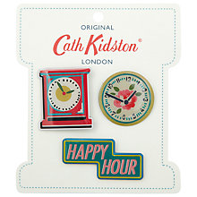 Buy Cath Kidston Clocks Button Badge Set, Enamel Online at johnlewis.com