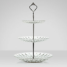 Buy Maison Cut Glass Cake Stand, 3 Tier Online at johnlewis.com