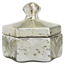 Buy Engraved Glass Hexagon Box Online at johnlewis.com