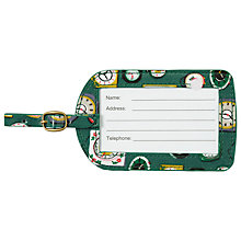 Buy Cath Kidston Mini Clocks Luggage Tag, Green Online at johnlewis.com