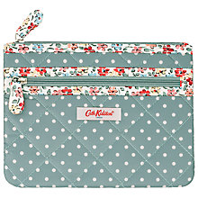 Buy Cath Kidston Mini Dot Quilted Double Zip Purse Online at johnlewis.com