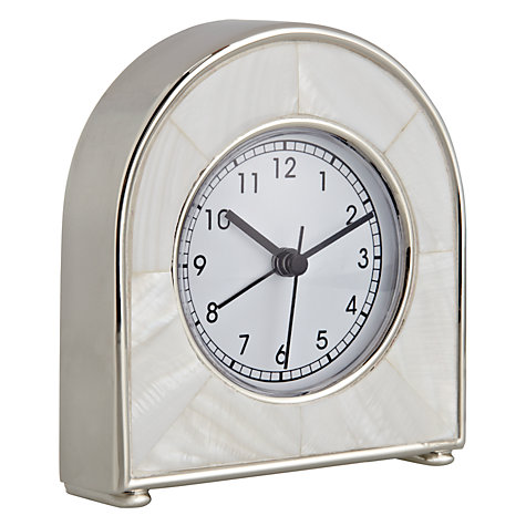Buy John Lewis Mother of Pearl Mantel Alarm Clock Online at johnlewis.com