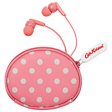 Buy Cath Kidston Little Spot Earphones and Pouch Online at johnlewis.com