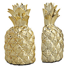 Buy Pineapple Bookends, Gold Online at johnlewis.com