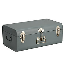 Buy John Lewis Croft Collection Metal Trunk, Large, Slate Online at johnlewis.com
