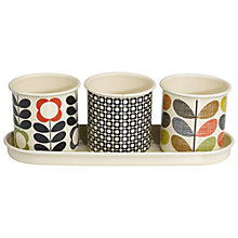 Buy Orla Kiely Herb Pots, Set of 3 Online at johnlewis.com