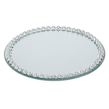 Buy Round Diamante Mirror Candle Plate, Dia.10cm Online at johnlewis.com