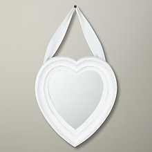 Buy White Hanging Heart Mirror Online at johnlewis.com