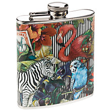 Buy Wanderlust Zebra Hip Flask, 175ml Online at johnlewis.com
