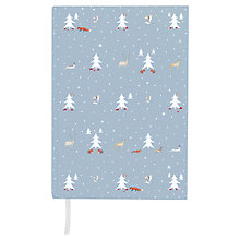 Buy Sophie Allport Woodland Notebook, Pastel Blue Online at johnlewis.com
