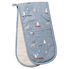 Buy Sophie Allport Woodland Double Oven Glove, Pastel Blue Online at johnlewis.com