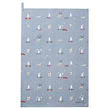 Buy Sophie Allport Woodland Print Tea Towel Online at johnlewis.com