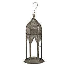 Buy John Lewis Small Lantern, Silver Online at johnlewis.com