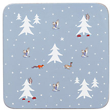 Buy Sophie Allport Woodland Coasters, Set of 4, Pastel Blue Online at johnlewis.com