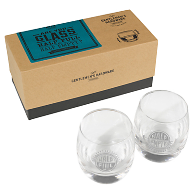 Gentlemen's Hardware Whisky Glasses, Set of 2