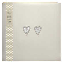 Buy Deva Bead Heart Photo Album, Large Online at johnlewis.com