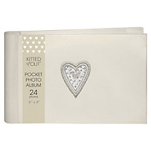 Buy Deva Bead Heart Photo Album, Pocket Online at johnlewis.com