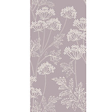 Buy John Lewis Cow Parsley Wallpaper, Cassis Online at johnlewis.com