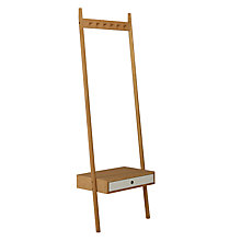 Buy Says Who for John Lewis Why Wood Coat Rack With Drawer Online at johnlewis.com