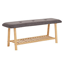 Buy Says Who for John Lewis Why Wood Bench With Cushion Online at johnlewis.com