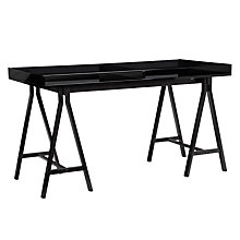 Buy John Lewis Ronnie Desk, Black Online at johnlewis.com