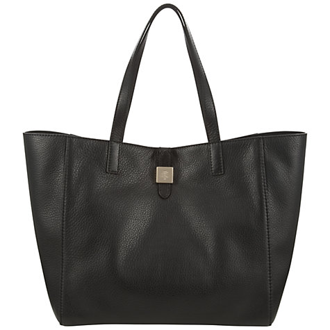 Buy Mulberry Tessie Leather Satchel Bag, Black Online at johnlewis.com