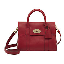 Buy Mulberry Small Bayswater Leather Satchel Bag, Poppy Red Online at johnlewis.com